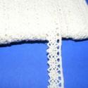 Pamut csipke-4  (12mm/3m beige), Textil, Varrás, Csipke, Pamut csipke-4  (12mm/3m beige) Kiváló minőségű pamut alapanyagú csipke. Az ár 3 méter anyagra vona..., Alkotók boltja