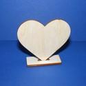 Talpas szív (minta nélkül 1db), Fa, Egyéb fatermék, Famegmunkálás, Ékszerkészítés, Szerelékek, Talpas szív ,minta nélkül.  Ültetőkártyának kiválóan megfelel,de más alkalmi egyéni felirattal vagy..., Alkotók boltja