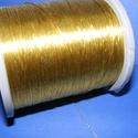 Metál zsinór, fényes arany (0,5mm/10m), Fonal, cérna, Ékszerkészítés, Kötés, horgolás, Metál zsinór fényes arany (0,5 mm/10m) Rendkívül dekoratív,fényes arany színű metál zsinór. Mérete ..., Alkotók boltja