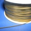 Lapos zsinór, arany (2,5mm/5m), Fonal, cérna, Ékszerkészítés, Kötés, horgolás, Metál zsinór arany (2,5mm/5m) Rendkívül dekoratív,fényes arany színű 2,5mm széles zsinór. Mérete 2,..., Alkotók boltja