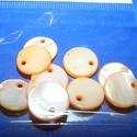 Fúrt kagyló ékszer alap (70. minta/10 db) - narancssárga, Gyöngy, ékszerkellék, Egyéb alkatrész, Ékszerkészítés, Mindenmás, Fúrt kagyló ékszer alap (70. minta/10 db) - narancssárga Az ékszerkészítés dekoratív kiegészítője l..., Alkotók boltja