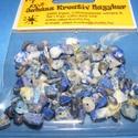 Ásványgyöngy-38 (100 db) - lazurit, Gyöngy, ékszerkellék, Ékszerkészítés, Gyöngy, Ásványgyöngy-38 - lazurit  Mérete: 5-15 mm  A csomag 100 db ásványgyöngyöt tartalmaz. Az ár egy cso..., Alkotók boltja