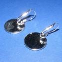 Fülbevaló alap,(17.minta 2db), Gyöngy, ékszerkellék, Egyéb alkatrész, Fülbevaló alap akasztható (ezüst színben) Mérete 32x18mm A termékeim között található a m..., Alkotók boltja