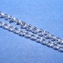 Ezüst színű lánc, Gyöngy, ékszerkellék, Egyéb alkatrész, Ezüst színű lánc. A szem mérete 4x2,5x0,5mm. A feltüntetett ár 1méter láncra vonatkozik., Alkotók boltja