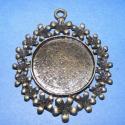 Díszes medál alap(106.minta 1db), Gyöngy, ékszerkellék, Egyéb alkatrész, Alkotók boltja