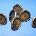 Fülbevaló alap(253.minta 6db), Stiftes fülbevaló alap bronz színben. Mérete 14mm(a belméret 12mm)A tüske 12mm. A termékeim között t..., Alkotók boltja