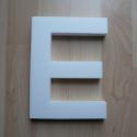 """Hungarocell betű - E, Díszíthető tárgyak, Hungarocell, Decoupage, szalvétatechnika, Festett tárgyak, festészet, Egy óriási díszíthető hungarocell """"E"""" betű eladó. Díszíthető szalvétatechnikával, kavicsokkal, de a..., Alkotók boltja"""