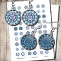Kék mandalák - digitális képek ékszerkészítéshez , Gyöngy, ékszerkellék, Üveglencse, Kék mandalák - nyomtatható, kör alakú képek  Min. 5 termék rendelésekor 400 Ft / kollázs !  ***  Mit..., Alkotók boltja