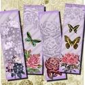 Romantikus könyvjelzők - nyomtatható képkollázs , Rózsák és pillangók - nyomtatható könyvjelzők   Min. 5 termék rendelésekor 400 Ft / kollázs !  *** M..., Alkotók boltja