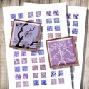 Cseresznyevirágzás - digitális képkollázs, Papír, Virágzó fák sziluettjei - nyomtatható, négyzet alakú képek  Ha min. 5 terméket rendelsz a boltomból,..., Alkotók boltja