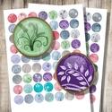 Indák és virágok - nyomtatható képek ékszerkészítéshez , Gyöngy, ékszerkellék, Papír, Indák és virágok - nyomtatható, kör alakú képek  Min. 5 termék rendelésekor 400 Ft / kollázs !  *** ..., Alkotók boltja