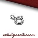 925 valódi ezüst KAPOCS rugós; B107 - sterling ezüst lánc kapocs, Gyöngy, ékszerkellék, 925-ös ezüst rugós kapocs vagy sterling ezüst lánckapocs  Méretek: 8 mm * 5 mm (a szerelő gyűrű bels..., Alkotók boltja
