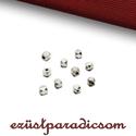 925 valódi ezüst KÖZTES szögletes; 10 db/csomag B207, Gyöngy, ékszerkellék, 925-ös ezüst szögletes köztes  A méretek értelmezéséhez kattints további termékfotóinkra: 2,4 mm, be..., Alkotók boltja