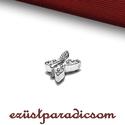 925 valódi ezüst KÖZTES lepke; B202, Gyöngy, ékszerkellék, 925-ös ezüst lepke köztes  Méretek: 0,7 cm * 0,5 cm (furat 1,5 mm)  Ez a 925 ezüst köztes KÉSZLETEN ..., Alkotók boltja