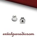 925 valódi ezüst FÜLBEVALÓ ALAP RÖGZÍTŐ szilikonos; B255 - sterling ezüst fülbevalóalap rögzítő, Gyöngy, ékszerkellék, 925-ös ezüst szilikonos fülbevaló alap rögzítő  A méretek értelmezéséhez kattints további termékfotó..., Alkotók boltja