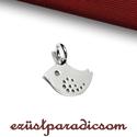 925 valódi ezüst CHARM kismadár; B256 - sterling ezüst medál, Gyöngy, ékszerkellék, 925-ös ezüst kismadár charm  A méretek értelmezéséhez kattints további termékfotóinkra: A=12,50 mm; ..., Alkotók boltja