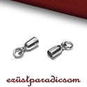 925 valódi ezüst BŐRVÉG ZÁRÓ; B116 - sterling ezüst bőrvégzáró, Gyöngy, ékszerkellék, Alkotók boltja