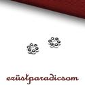 925 valódi ezüst KÖZTES virágos; 2 db/csomag B280, Gyöngy, ékszerkellék, 925-ös ezüst virágos köztes  A méretek értelmezéséhez kattints további termékfotóinkra: A=5,00 mm; B..., Alkotók boltja