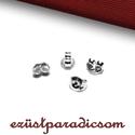 925 valódi ezüst FÜLBEVALÓ ALAP RÖGZÍTŐ; 4 db/csomag B263 - sterling ezüst fülbevalóalap rögzítő, Gyöngy, ékszerkellék, 925-ös ezüst fülbevaló alap rögzítő  A méretek értelmezéséhez kattints további termékfotóinkra: A=4,..., Alkotók boltja