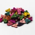 FA színes szív  gombok - 30 db, Gomb, Fa, Alkotók boltja