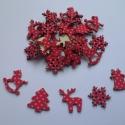 Fa furnér textillel bevont pöttyös karácsonyi dekoráció - 30 db, Fa, Gomb, Mindenmás, Virágkötészet, Papírművészet, Fa furnér textillel bevont pöttyös karácsonyi dekoráció vegyes mintákkal  Méretük: 21mm x 21mm  Az ..., Alkotók boltja