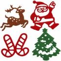 Karácsonyi FILC öntapadós dekoráció - 16 db!, Díszíthető tárgyak, Textil, Mindenmás, Karácsonyi filc dekorációk - öntapadósak!  1 csomagban 16 db található, mindegyik mintából 4-4 db  ..., AlkotĂłk boltja