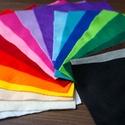AKCIÓ!!! 5 db gyönyörű élénk színű filc lap, Textil, Filc, Varrás, Mindenmás, Textil, Kiváló minőségű, könnyen szabható, varrható filc anyag gyönyörű élénk színekben.  Mérete: 20cm x 30..., Alkotók boltja