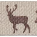 100% pamut szalag csomag - Reindeer Snowflakes, Textil, Szalag, pánt, Natúr alapon karácsonyi mintás pamut szalag a természetes alapanyagok kedvelőinek.   A csomag 2 méte..., Alkotók boltja