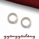 925 valódi ezüst SZERELŐKARIKA NYITOTT 6 mm; 2 db/csomag - sterling ezüst szerelő karika #236, Gyöngy, ékszerkellék, 925-ös ezüst nyitott szerelőkarika 6 mm; 2 db/csomag vagy sterling ezüst szerelő karika  Amit a 925-..., Alkotók boltja