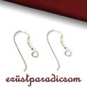 925 valódi ezüst fülbevaló akasztó - sterling ezüst #103, Gyöngy, ékszerkellék, 925-ös ezüst fülbevaló alap vagy ezüst franciaakasztó  Mérete: 20 mm * 7 mm  Amit a 925-ös sterling ..., Alkotók boltja