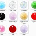 Swarovski rivoli 6mm-es több színben  5db /csomag, Gyöngy, ékszerkellék, Swarovski kristályok, SWAROVSKI KRISTÁLY RIVOLI TÖBB SZÍNBEN!  5db / csomag  Méret:6mm Szín: a készleten lévő színeket  ös..., Alkotók boltja