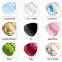 Swarovski briolett szív keresztben fúrt 11mm-es több színben, Gyöngy, ékszerkellék, Swarovski kristályok, SWAROVSKI KRISTÁLY  BRIOLETT SZÍV,  TÖBB SZÍNBEN !  Méret:11mm  Az ár egy darabra vonatkozik!  A szí..., Alkotók boltja