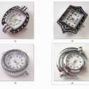 fűzhető óraszerkezet , Gyöngy, ékszerkellék, Egyéb alkatrész, Fűzhető óraszerkezet.  Az ár 1 db órára vonatkozik.       A fotón mindegyik óra mellett találsz egy ..., Alkotók boltja