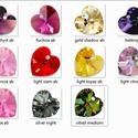 Swarovski szív 10mm-es  AB bevonatos több színben , Gyöngy, ékszerkellék, Swarovski kristályok, SWAROVSKI KRISTÁLY SZÍV, TÖBB SZÍNBEN !  Méret:10mm  Az ár egy darabra vonatkozik!  A színtáblázatot..., Alkotók boltja