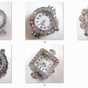 fűzhető óraszerkezet , Gyöngy, ékszerkellék, Egyéb alkatrész, Fűzhető óraszerkezet.  Az ár 1 db órára vonatkozik.   A fotón mindegyik óra mellett találsz egy szám..., Alkotók boltja