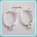 925-ös ezüst fülbevaló kapocs biztonsági kapoccsal EFK K 02, Gyöngy, ékszerkellék, Egyéb alkatrész, EFK K 02 --- 925-ös fémjellel ellátott valódi ezüst (bevizsgált)fülbevalóalap, biztonsági kapoccsal...., Alkotók boltja