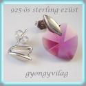 925-ös ezüst fülbevaló kapocs EFK B  18, Gyöngy, ékszerkellék, Fém köztesek, EFK B 18 --- 925-ös fémjellel ellátott valódi  ezüst (bevizsgált)bedugós fülbevaló.  1 pár  A mérete..., Alkotók boltja