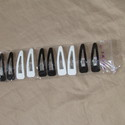 Fekete-fehér citt-csat csomag, Díszíthető tárgyak, Gyöngy, ékszerkellék, Ékszerkészítés, 60 mm-es, műanyag bevonattal ellátott csitt-csat csomag, 5 pár   Erős, nagyon jó minőségű, ragaszth..., Alkotók boltja