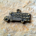 2 db Antik bronz Sulibusz medál, charm - kétoldalas, Gyöngy, ékszerkellék, Fém köztesek, Antik bronz Sulibusz charm - kétoldalas. Ajánlom kulcstartónak, mobildísznek, Ha egy nyakláncra..., Alkotók boltja