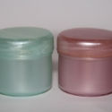 kozmetikat tégely, Csomagolóanyag, Szappankészítés, Mindenmás, 15ml töltősúlyú kozmetikai tégely, csavaros tetővel- a képen látható kétféle színben- rózsaszín és ..., Alkotók boltja