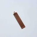 hosszúkás vörösréz téglalap tűzzománc fülbevaló alap, Díszíthető tárgyak, Gyöngy, ékszerkellék, Fémmegmunkálás, ötvösség, Ékszerkészítés, Decoupage, szalvétatechnika, 8 x 35mm nagyságú hosszúkás téglalap alakú vörösréz forma 0,5mm vasatgságú lemezből kivágva. Alkalm..., Alkotók boltja