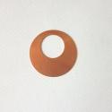 Karika alakú vörösréz tűzzománc fülbevaló, medál vagy csatt alap, Díszíthető tárgyak, Gyöngy, ékszerkellék, Fémmegmunkálás, ötvösség, Ékszerkészítés, Decoupage, szalvétatechnika, 40 x 40mm nagyságú karika alakú, vörösréz forma 0,5mm vastagságú lemezből kivágva. Alkalmas tűzzomá..., Alkotók boltja