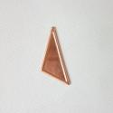 Háromszög alakú vörösréz tűzzománc fülbevaló, medál vagy csatt alap, Díszíthető tárgyak, Gyöngy, ékszerkellék, Fémmegmunkálás, ötvösség, Ékszerkészítés, Decoupage, szalvétatechnika, 21 x 50mm nagyságú háromszög alakú, vörösréz forma 0,5mm vastagságú lemezből kivágva, kis kerettel...., Alkotók boltja