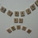 Mágneses scrabble betű, Fa, Egyéb fatermék, Famegmunkálás, Képek, üzenetek dekorálásához tökéletes kellék. A boltunkban lehetőséged kínálkozik egyesével megvá..., Alkotók boltja