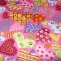 Szívecskés - 3 szín - kombinálható  70 x 30 cm minőségi textil - holland design , Textil, Pamut, Mindenmás, Varrás, Textil, Kiváló minőségű - egyedi tervezésű - jogvédett termék -  Textil - akár - patchwork - anyag  Német D..., Alkotók boltja