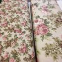 Romantikus vintage rózsás - 3 féle design textil 70 x 50 cm minőségi  , Textil, Pamut, Kiváló minőségű - egyedi tervezésű - jogvédett termék -  Textil - akár - patchwork - anyag  100% des..., Alkotók boltja