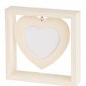 Képkeret szív, Díszíthető tárgyak, Dekorációs kellékek, Decoupage, szalvétatechnika, Festett tárgyak, festészet, Keret 12,8 x 3 x 12,8 cm   Szív kb. 9,8 x 10 cm, belül kb. 6,5 x 6,2 cm , Alkotók boltja