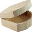Kagyló formájú fa doboz, Fa, Díszíthető tárgyak, Famegmunkálás, Festett tárgyak, festészet, Dekorálható fa doboz kagyló formájú 15cm x 12cm x 5cm , Alkotók boltja