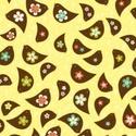 Emily Hayes: Tweet partridge - 30x55- madarak sárga alapon, Textil, Pamut, Varrás, Textil, amerikai designer textil:  Emily Hayes - Tweet partridge sárga alapon madárkák  Az utolsó képen lát..., Alkotók boltja