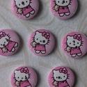 Hello Kitty! cuki fagomb, Gomb, Dekorációs kellékek, Bábkészítés, mackóvarrás, Decoupage, szalvétatechnika, Mindenmás, 10 db huncut Hello Kitty fagomb 25*25mm méretekkel. Szuper áron juthatsz hozzá. Az alkotás igazi ör..., Alkotók boltja